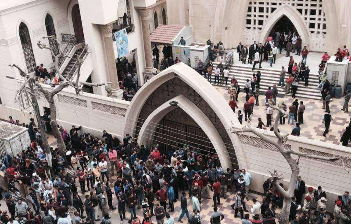 L'église Mar Girgis de Tanta, en Egypte, frappée par un attentat terroriste le 9 avril 2017 –  Nariman El-Mofty/AP/SIPA