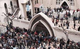 L'église Mar Girgis de Tanta, en Egypte, frappée par un attentat terroriste le 9 avril 2017