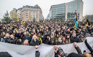 Les manifestations ont été dispersées par des gaz lacrymogènes lancées par les forces de l'ordre belges.