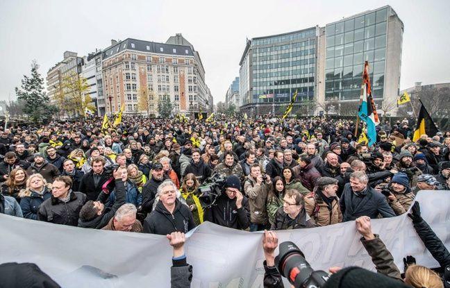 VIDÉO. Belgique: Plus de 5000 manifestants d'extrême droite contre le «Pacte de Marrakech» sur les migrations