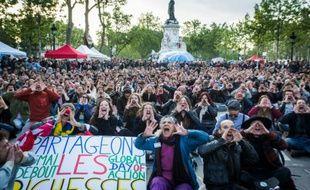 """«L'Assemblée» fait revivre """"Nuit Debout"""" de l'intérieur, (photo de laPlace de la République, le 15 mai  2016)"""