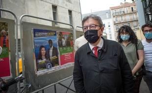 Jean-Luc Mélenchon vote à Marseille, le 20 juin.