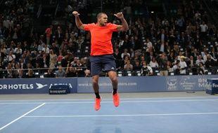 Jo-Wilfried Tsonga lors du Masters 1000 de Bercy