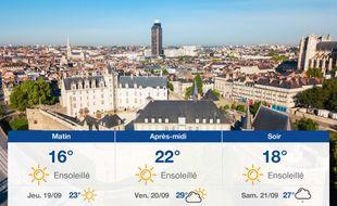 Météo Nantes: Prévisions du mercredi 18 septembre 2019