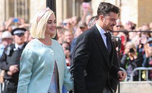 La chanteuse Katy Perry et son fiancé, l'acteur Orlando Bloom