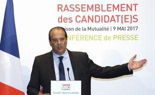 Le rassemblement, c'est pas si bien parti au PS. Jean-Christophe Cambadélis le 9 mai 2017 à Paris.