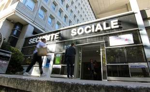 L'entrée des locaux de la CPAM d'Ille-et-Vilaine, à Rennes. Illustration de la sécurité sociale.