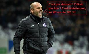 Pascal Dupraz n'engueule pas que ses joueurs... Le public du Stadium en prend aussi pour son grade.