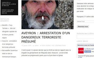 """Capture d'écran du site parodique """"La Dèche du Midi""""."""