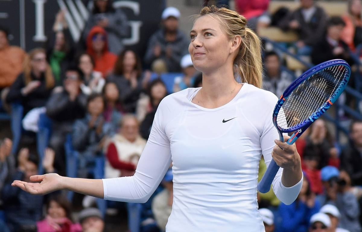 Maria Sharapova à Los Angeles en décembre 2015. – ANGELA WEISS / GETTY IMAGES NORTH AMERICA / AFP