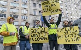 310x190 Manifestants Reunis New York Soutenir Gilets Jaunes