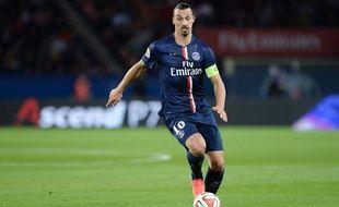 Zlatan Ibrahimovic lors du match entre le PSG et Saint-Etienne le 31 août 2014.