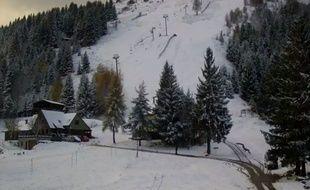 Le manteau neigeux sur la station du Gaschney, au pied du Hohneck, ce lundi 13 novembre 2017.