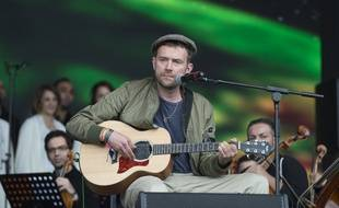 L'artiste Damon Albarn au festival de Glastonbury en 2016