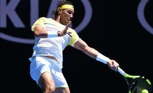 L'Espagnol Rafael Nadal lors de sa défaite au 1er tour de l'Open d'Australie, le 19 janvier 2016, à Melbourne.