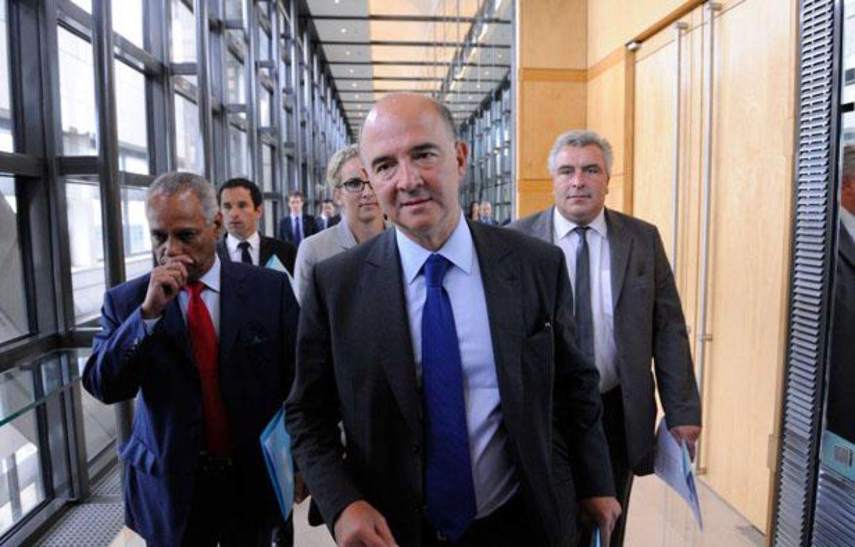 Pierre Moscovici, le 28 août àBercy. – WITT/SIPA