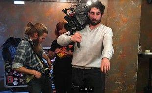 Etienne Constantinesco sur le tournage de Dernier Soleil