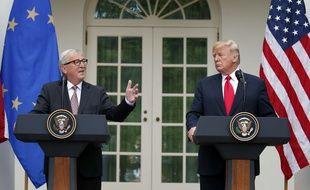Jean-Claude Juncker et Donald Trump à la Maison Blanche, le 25 juillet 2018.