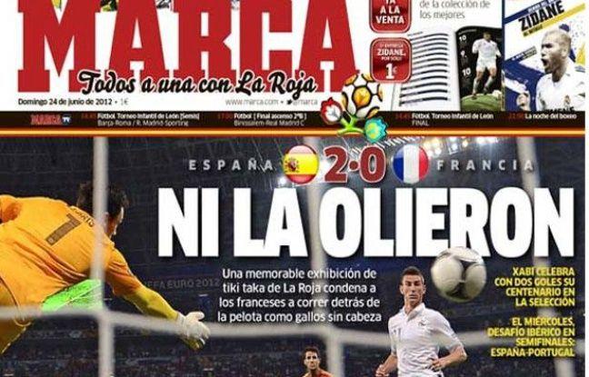 La une du quotidien sportif madrilène Marca, le 24 juin 2012.