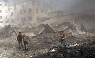 Un bombardement isarélien à Gaza, le 18 novembre 2012.