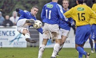 Damien Bottemer a tout tenté, hier, mais l'attaquant de la FAIG et ses coéquipiers ont buté sur Sézanne (2-0) en Coupe de France.