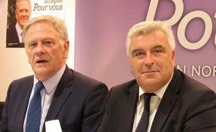 Lille, le 26 octobre 2015 - Pierre de Saintignon, tête de liste PS, présente son programme en vue des élections régionales, avec Frédéric Cuvillier