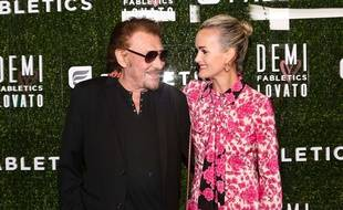 Laeticia et Johnny Hallyday à Los Angeles, le 10 mai 2017.