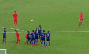 Capture d'écran du but de Del Piero en ISL
