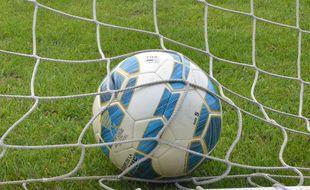 Illustration d'un ballon et d'une cage de football.