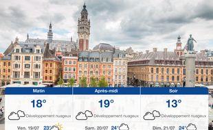 Météo Lille: Prévisions du jeudi 18 juillet 2019
