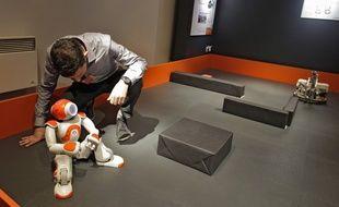 Le stand robotique de l'Xperium de Lille 1.