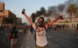 Les manifestations touchent surtout Bagdad, comme ici, et le sud du pays.