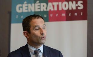Benoît Hamon lors d'un point presse, le 12 novembre 2018 à Paris.