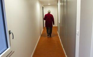 Une personne âgée. (Illustration)