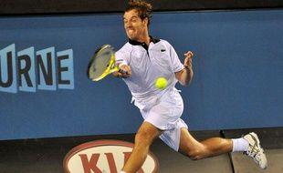 Richard Gasquet, le 19 janvier 2010 à Melbourne lors de l'Open d'Australie.