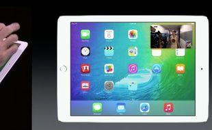 """Avec iOS9, les vidéos peuvent être visionnées dans une application ouverte, en mode """"picture in picture""""."""