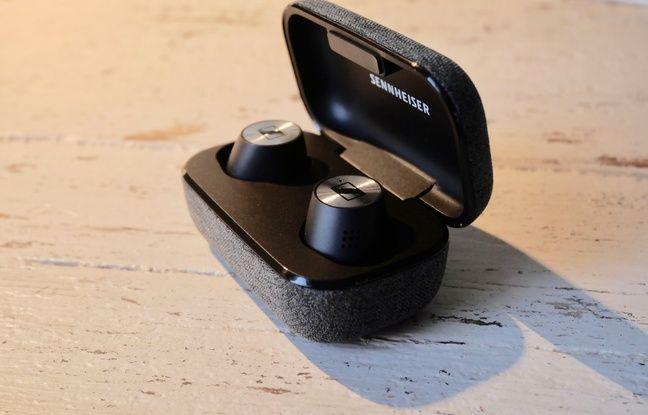Les écouteurs Momentum True Wireless 2 de Sennheiser.