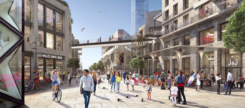 L'architecture de la future Rue Bordelaise gardera la pierre comme matériau principal
