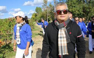 Zhou Xijian, homme d'affaires chinois, en visite sur son domaine viticole de Courteillac, dans le Bordelais