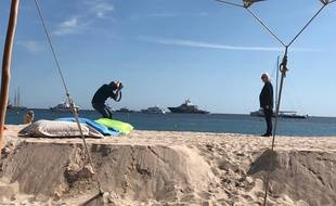 John Carpenter sur la plage à Cannes