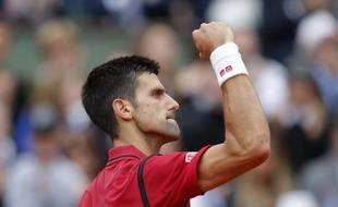 Novak Djokovic lors de la finale de Roland-Garros face à Andy Murray, le 5 juin 2016.