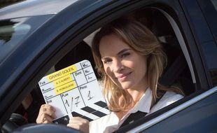 Mélanie Maudran, sur le tournage de Un si grand soleil.