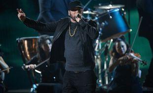 Le rappeur Eminem sur la scène de la 92e cérémonie des Oscars