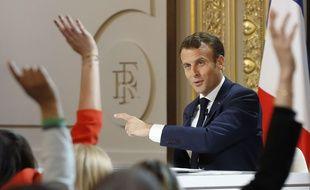 Le président Emmanuel Macron a donné une conférence de presse le 25 avril 2019.