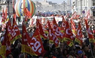 Manifestation à Marseille, le 22 mars 2018.