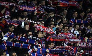 Illustration de supporters caennais lors de la rencontre entre Caen et Bordeaux le 7 mars dernier.