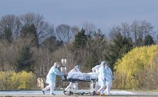 L'évacuation d'un patient depuis Mulhouse.