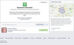 Le dispositif «Safety Check» de Facebook a été mis en place tardivement après les attentats de Bruxelles