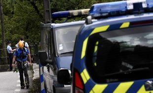 Les gendarmes lors des recherches effectuées suite à l'enlèvement de Maëlys