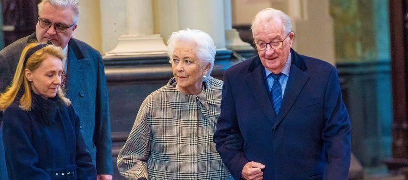 Albert II de Belgique et la reine Paola, le 19 février 2019.